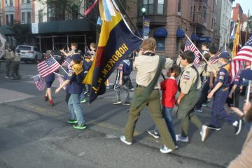 troop 146 at the memorial day parade