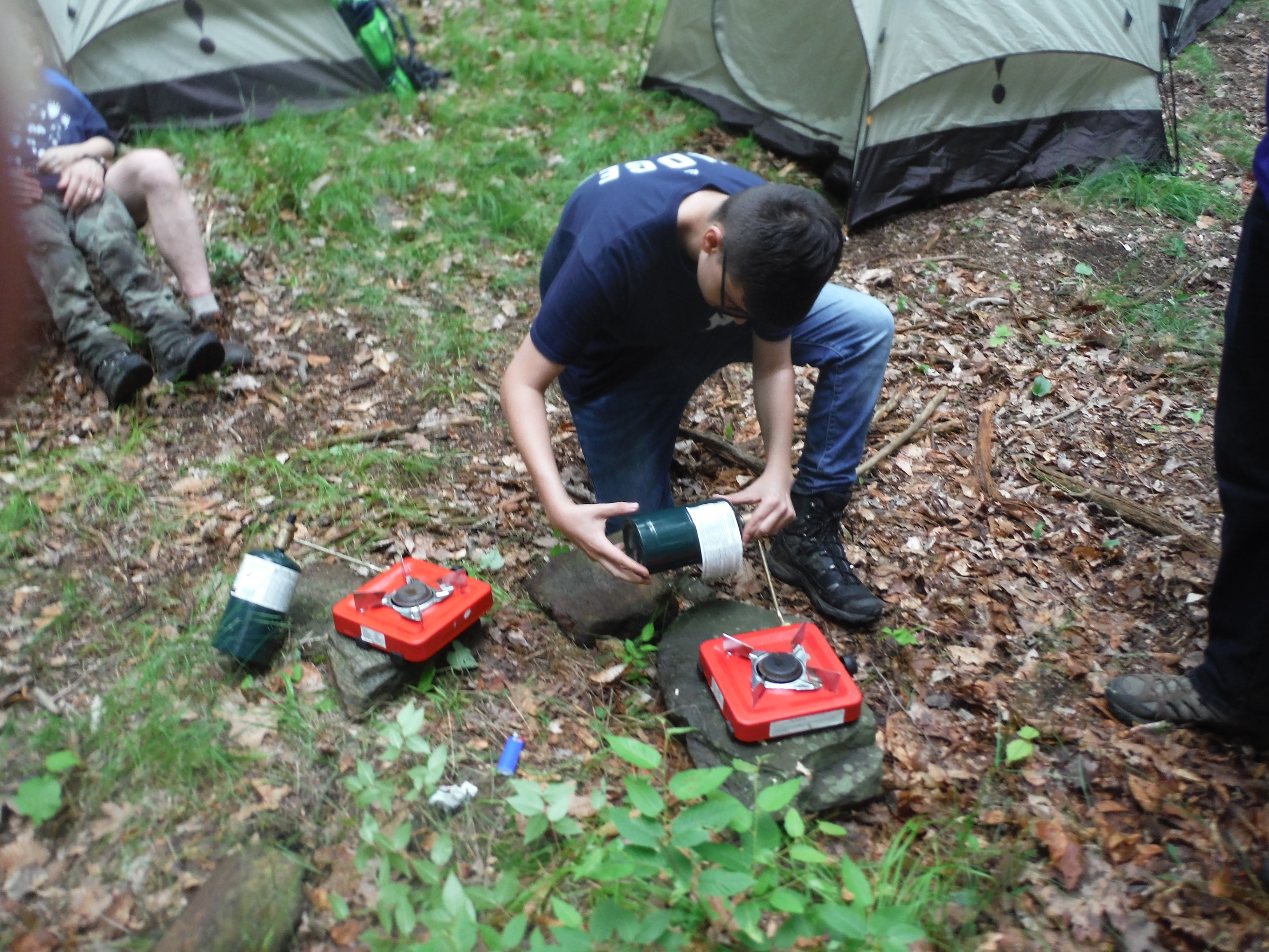 setting up stoves